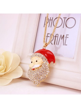 Lovely Santa Claus Shape Christmas Gift Sweater Necklace