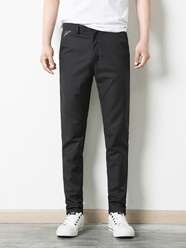 Plain Mens Casual Pencil Pants