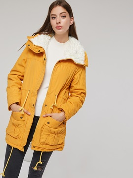 Winter Cotton Liner Mid Length Thick Womens Overcoat