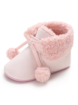Plain Lace Up Baby Booties