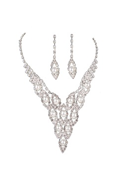 Bling Bling Tassel Rhinestone Claw Chain 2 Pcs Jewelry Set
