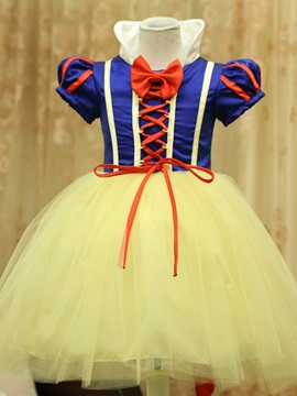 Halloween Cosplay Girls Snow White Dresses