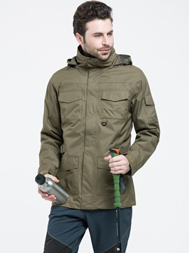 Pocket Two Piece Mens Outdoor Jacket