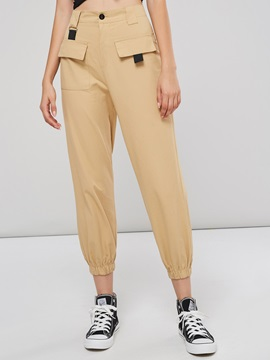High Waist Pocket Womens Harem Pants