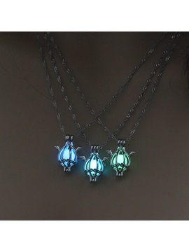 Multi Color Angel Shape Halloween Luminous Pendant Necklace