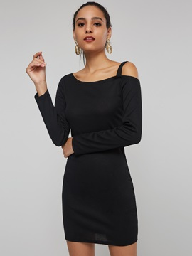 Off The Shoulder Hollow Womens Bodycon Dress
