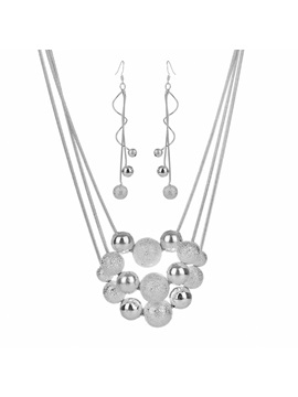 Multi Layer Concise Silver Plated E Plating Jewelry Sets