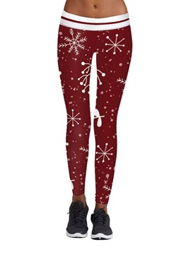 Christmas Print Thin Fashion Womens Leggings