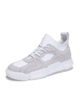 Mid Cut Upper Lace Up Mens Skate Shoes