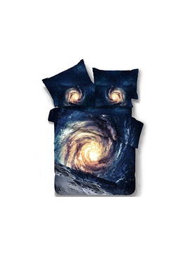 Galaxy 3d Printed Polyester 4 Piece Bedding Sets Duvet Covers
