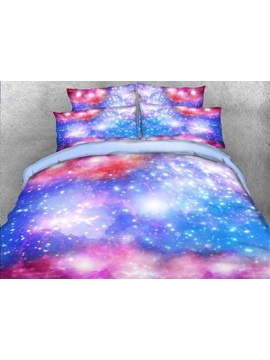 Dreamy Galaxy Printed Cotton 3d 4 Piece Bedding Sets Duvet Covers