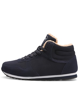 Lace Up High Cut Upper Mens Winter Sneakers