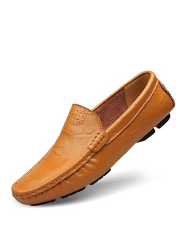 Pu Round Toe Slip On Mens Casual Shoes