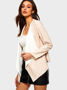 Straight Long Sleeve Wrapped Spring Regular Womens Jacket
