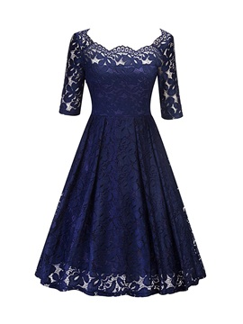 Embroidery Expansion Pullover Womens Lace Dress