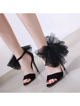 Stiletto Heel Line Style Buckle Womens Sandals