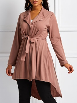 Long Lace Up Slim Thin Womens Trench Coat