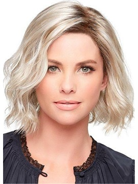 Fashion Medium Loose Wave Layered Synthetic Hair Capless Wigs 12 Inches