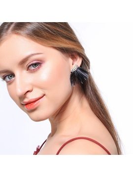 Feather Tassel Design Prom Stud Earrings