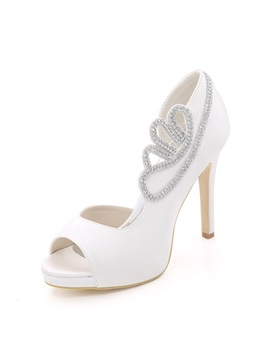 Peep Toe Stiletto Heel Wedding Shoes