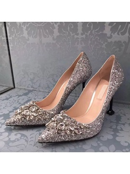 Rhinestone Glitter Stiletto Heel Wedding Shoes