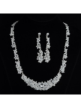 European Necklace Floral Jewelry Sets Wedding