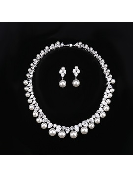 European Spherical Earrings Jewelry Sets Wedding