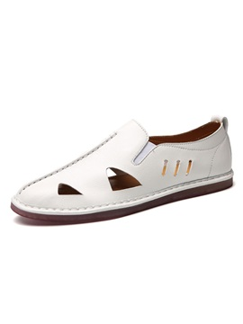 Plain Hollow Round Toe Mens Casual Shoes