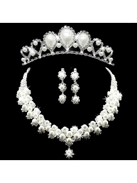 Korean Tiara Diamante Jewelry Sets Wedding