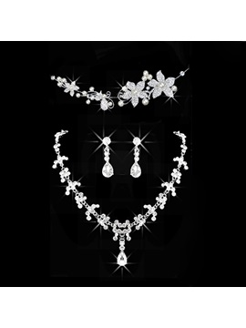 Headpiece Korean Diamante Jewelry Sets Wedding