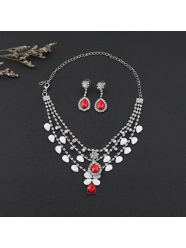 Floral Necklace European Jewelry Sets Wedding