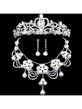 Floral Necklace Korean Jewelry Sets Wedding