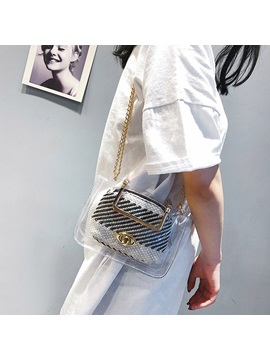 Chain Abs Plastic Square Tote Bags