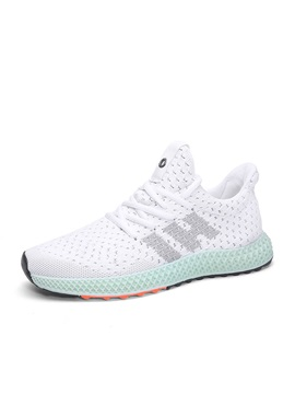 Flat Mesh Breathable Mens Running Shoes