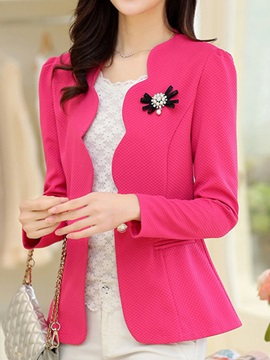 Long Sleeve Plain Fall Short Womens Casual Blazer
