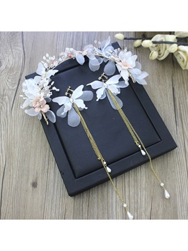 Korean Floral Headpiece Jewelry Sets Wedding