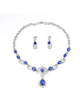 Luxury Necklace Diamante Fashion Jewelry Set