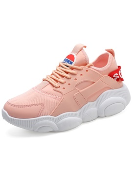 Low Cut Upper Thread Lace Up Womens Chunky Sneakers