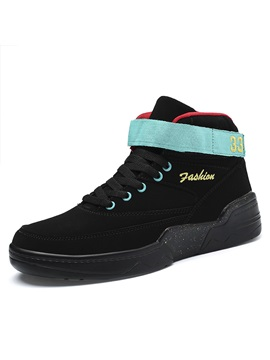 Velcro Simple High Top Mens Skate Shoes