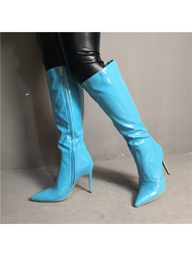Pointed Toe Side Sexy Knee Boots