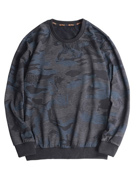 Patchwork Pullover Camouflage Loose Mens Hoodie