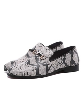 Slip On Serpentine Round Toe Mens Prom Shoes