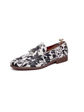 Slip On Floral Printed Mens Prom Shoes