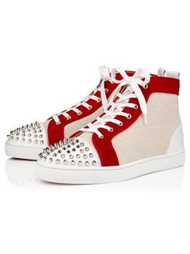 Lace Up Round Toe Patchwork Mens Skate Shoes
