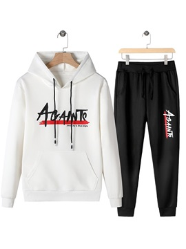 Pants Letter Print Casual Spring Mens Outfits
