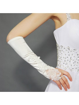 Wedding Special Occasion Appliques Fingerless Gloves