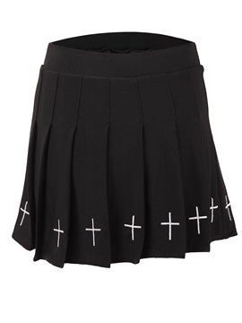 Halloween Costume Mini Skirt Pleated Embroidery Womens Skirt