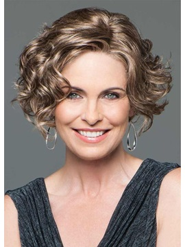 Womens Face Framing Side Part Short Hairstyles Synthetic Hair Wigs Rose Capless Wigs 14inch