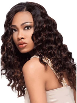 Custom Hand Tied Curly 100 Human Hair Full Lace Wig 18 Inches
