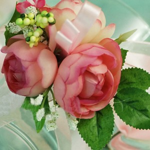 Wonderful Pink Silk Cloth Wedding Bridal Wrist Corsage